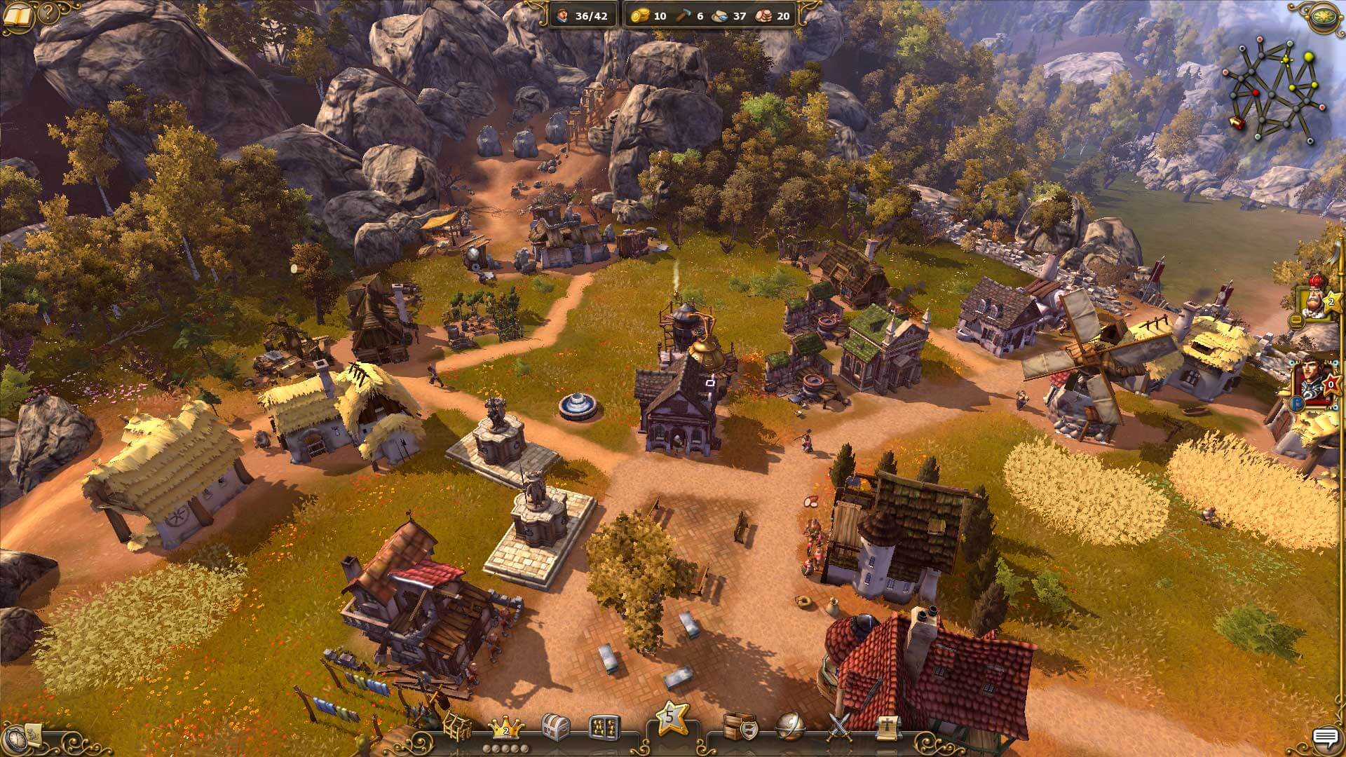 The Settlers History Collection Game City View